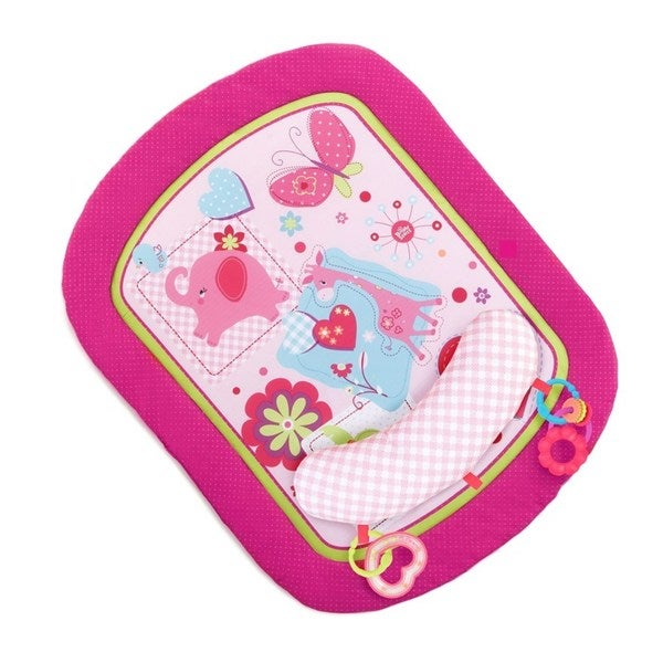 Bright Starts Pretty In Pink Sweet Savanna Prop And Play Mat