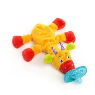 Bright Starts Cozy Coos Deluxe Pacifier Yellow Giraffe
