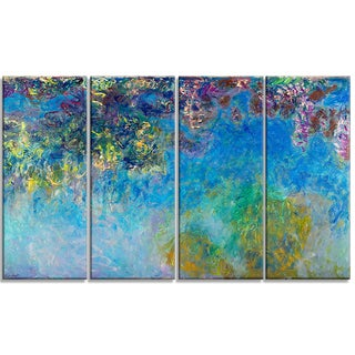 Design Art 'Claude Monet - Wisteria' Landscape Canvas Arwork