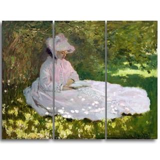 Design Art 'Claude Monet - Springtime' Landscape Canvas Arwork