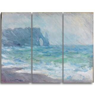 Design Art 'Claude Monet - Regnvaer Etreatat' Landscape Canvas Arwork