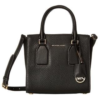 Michael Kors Selby Medium Black Crossbody Satchel Handbag
