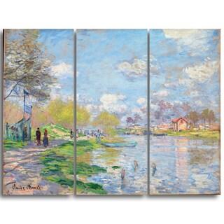 Design Art 'Claude Monet - Spring by the Seine' Canvas Art Print
