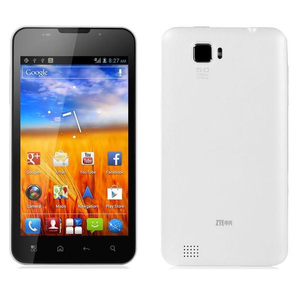 ZTE V887 Unlocked GSM Dual-Core 5MP Camera Android 4.0 Cell Phone - Black/White