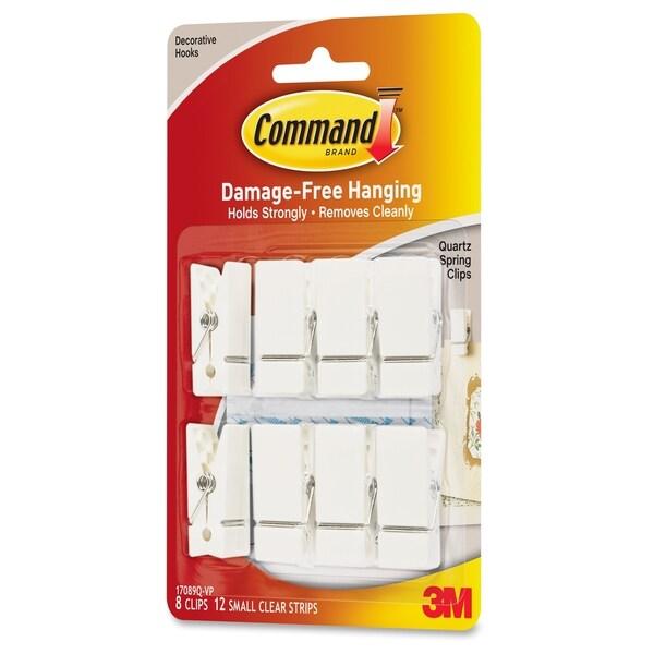 Command Adhesive Quartz Spring Clips - 8/PK