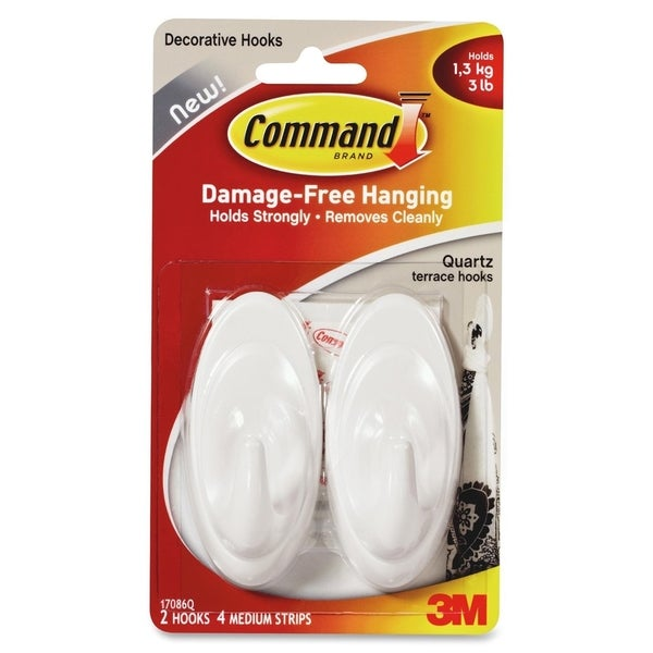 Command Decorative Terrace Hook - 2/PK