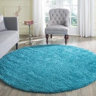 Safavieh Laguna Shag Turquoise Rug (6'7 x 6'7 Round)