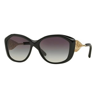 Burberry Women's BE4208Q Black Plastic Cat Eye Sunglasses