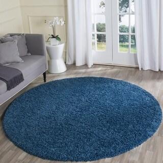 Safavieh Laguna Shag Blue Rug (6'7 x 6'7 Round)