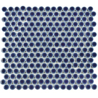 SomerTile 12x12.25-inch Penny Smoky Blue Porcelain Mosaic Floor and Wall Tile (Case of 10)