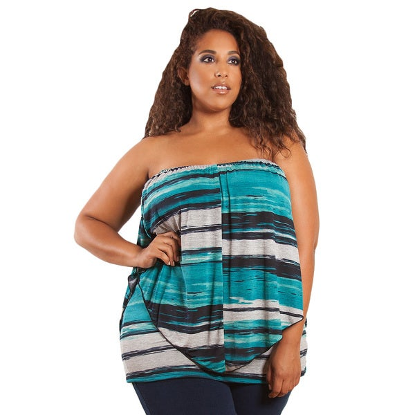 Sealed with a Kiss Women's Plus Size 'Clarabelle' Multi Wear Top