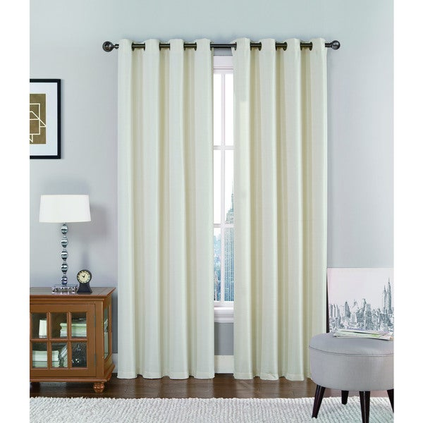 VCNY Jasmine Solid Grommet-Top Curtain Panel