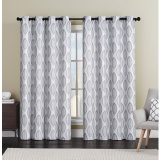 VCNY Bali Leaf Grommet-Top Curtain Panel