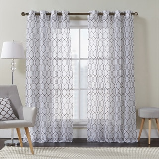 VCNY Dante Embroidered Curtain Panel