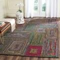 Safavieh Handmade Nantucket Charcoal Cotton Rug (6' x 9')