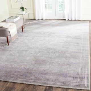 Safavieh Passion Watercolor Vintage Grey / Lavender Vintage Watercolor Rug (9' x 12')