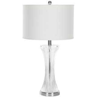 Safavieh Lighting 25-inch Zelda Glass Clear Table Lamp