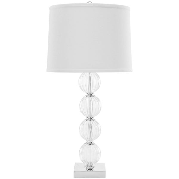 Safavieh Amanda White Crystal Glass Globe Table Lamp