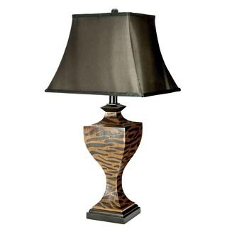 Safavieh Lighting 32.5-inch Sahara Safari Brown/ Black Table Lamp