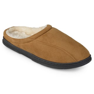 Perry Ellis Men's Clog Microsuede Slippers