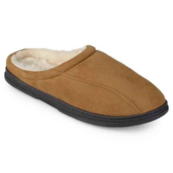 Perry Ellis Men's Clog Microsuede Slippers