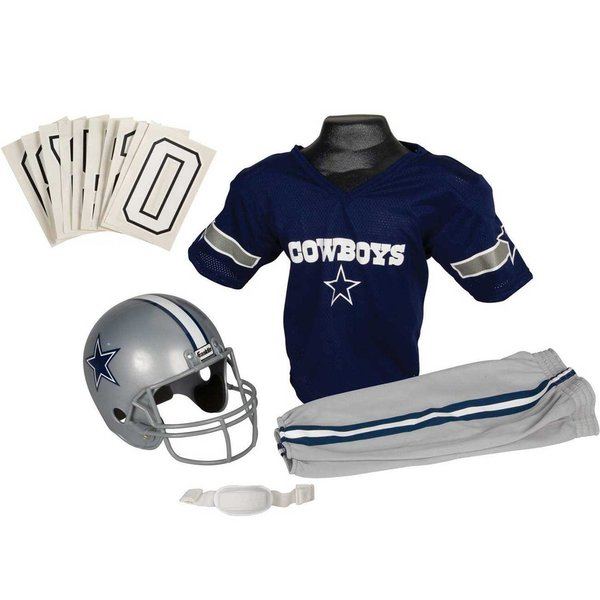 Franklin Sports NFL Dallas Cowboys Deluxe Youth Uniform Set (Medium)