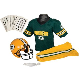 Franklin Sports NFL Green Bay Packers Deluxe Youth Uniform Set (Small)