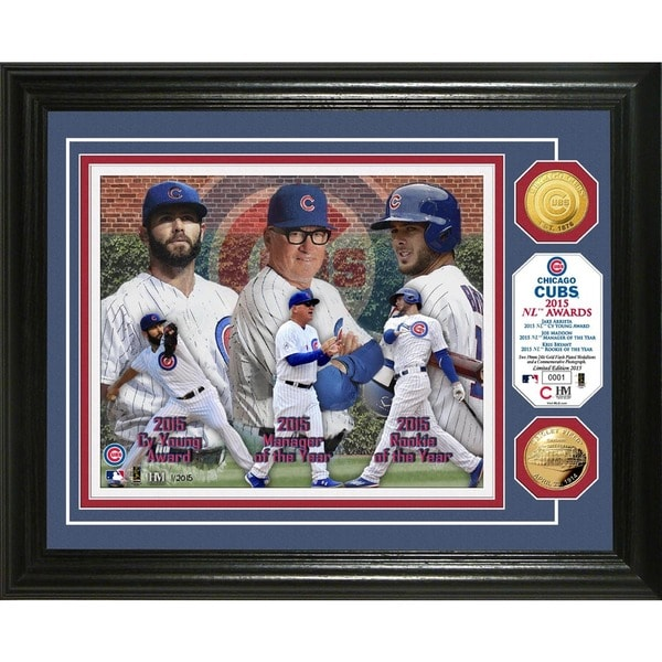 """Chicago Cubs """"2015 Awards"""" Gold Coin Photo Mint"""