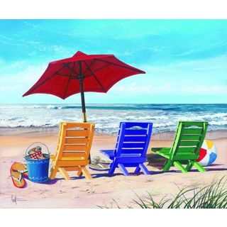 Scott Westmoreland 'Beachy Keen' Gallery Wrapped Canvas