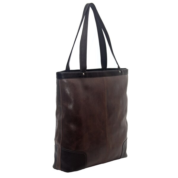 Piel Leather Vintage Vertical Tote Bag