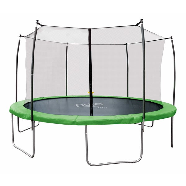 Pure Fun Dura-Bounce 14 foot Trampoline with Enclosure
