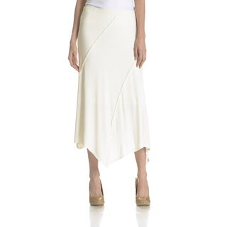 Joan Vass New York Women's Sharkbit Hem Skirt