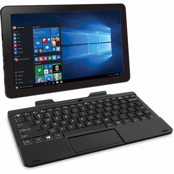 "RCA Black Cambio 10"" Windows Tablet w/ Detachable Keyboard"