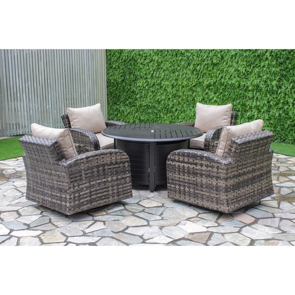 Marco Swivel Gas Fire Pit Set