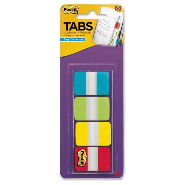 "Post-it 1"" Solid Color Self-stick Tabs - 88/PK"