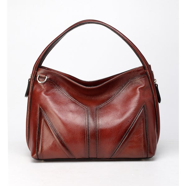 Elle Leather Hobo Handbag