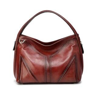 Elle Leather Hobo Handbag