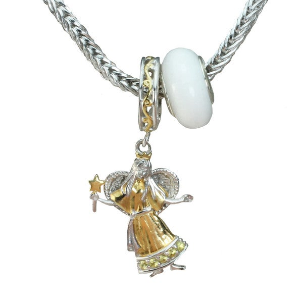 Michael Valitutti Angel & Quartz Charm Set