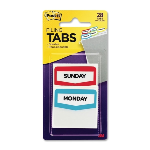 Post-it Days Filing Tab - 28/PK