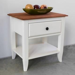 International Caravan Saint Gallen One-drawer Solid Acacia Hardwood End Table