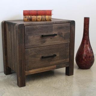 International Caravan Malmo Two-drawer Solid Acacia Hardwood Side Table