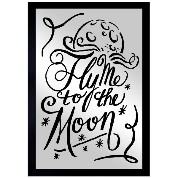 'To The Moon Navy' Mirror