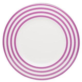 Red Vanilla Freshness Lines Violet 11.25-inch Dinner Plates (Set of 6)