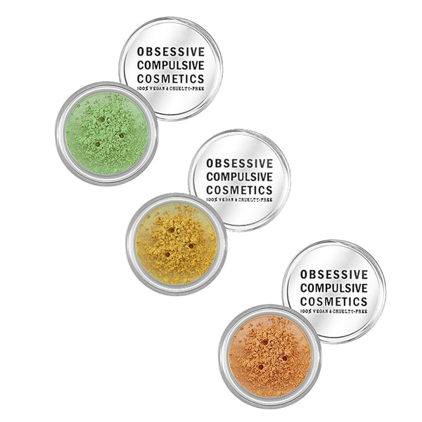 Obsessive Compulsive Cosmetics Loose Colour Concentrate Eyeshadow (Set of 3)