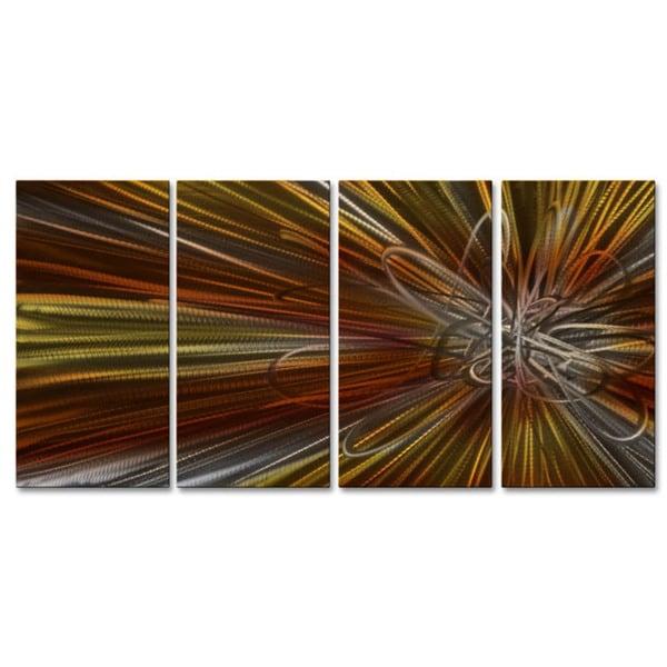Metal Wall Art 'Electron Ray III' Ash Carl