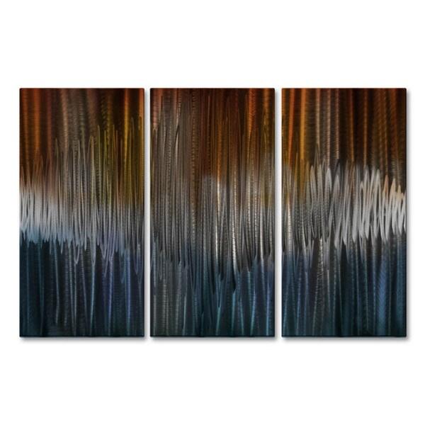'Energize IV' Ash Carl Metal Wall Art 16855663