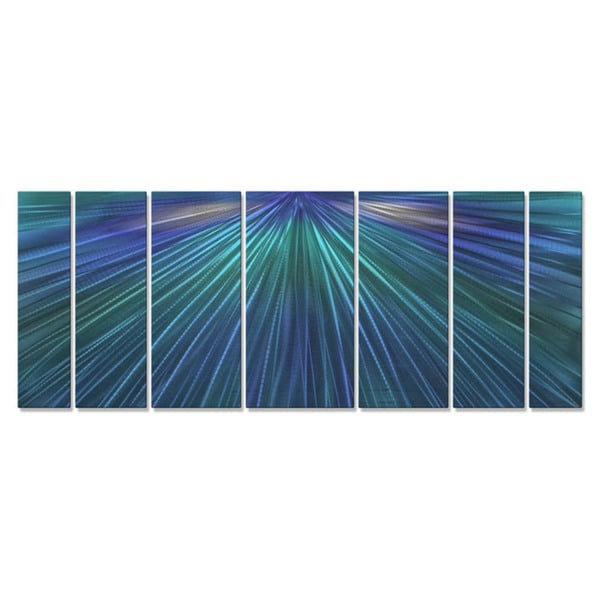 Metal Wall Art 'Shine The Blue Light' Ash Carl 16855666
