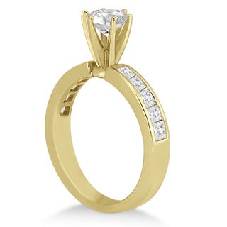 14k Gold Channel Set Princess Engagement Ring 0.50ct (G-H, SI1-SI2)
