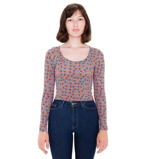 American Apparel Women's Printed Reed Top