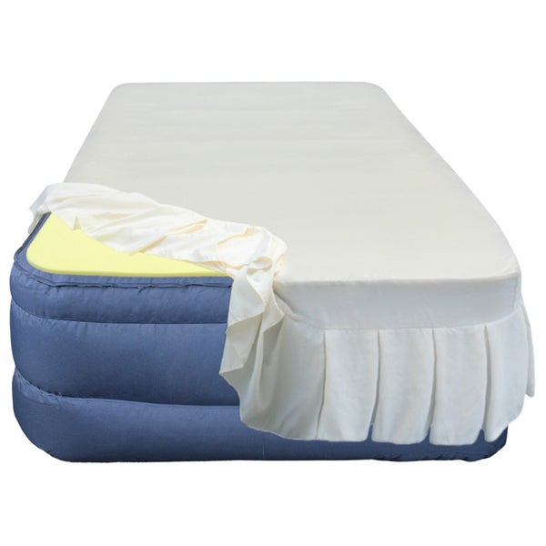 Size Airbed With  Inch Memory Foam Topper And Fitted Skirted Sheet